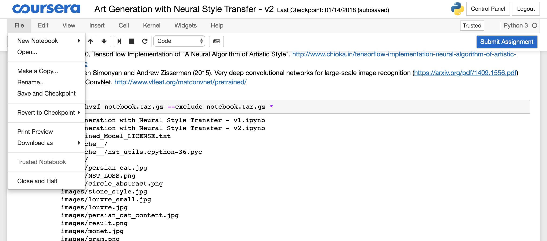Run your Coursera Jupyter Notebook locally