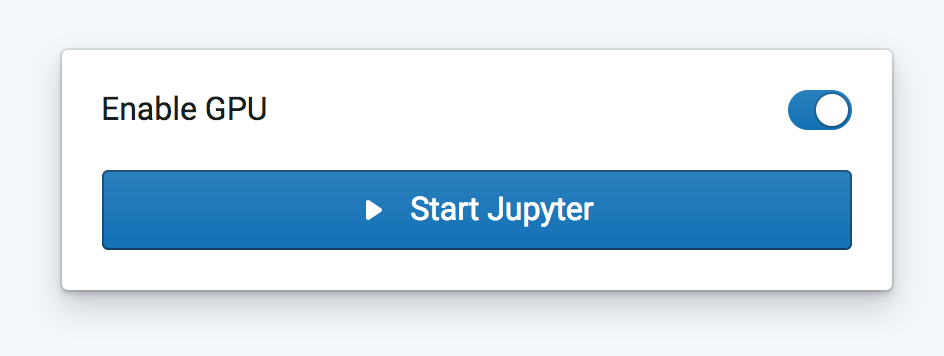 Enable GPU and start Jupyter Notebook on Crestle